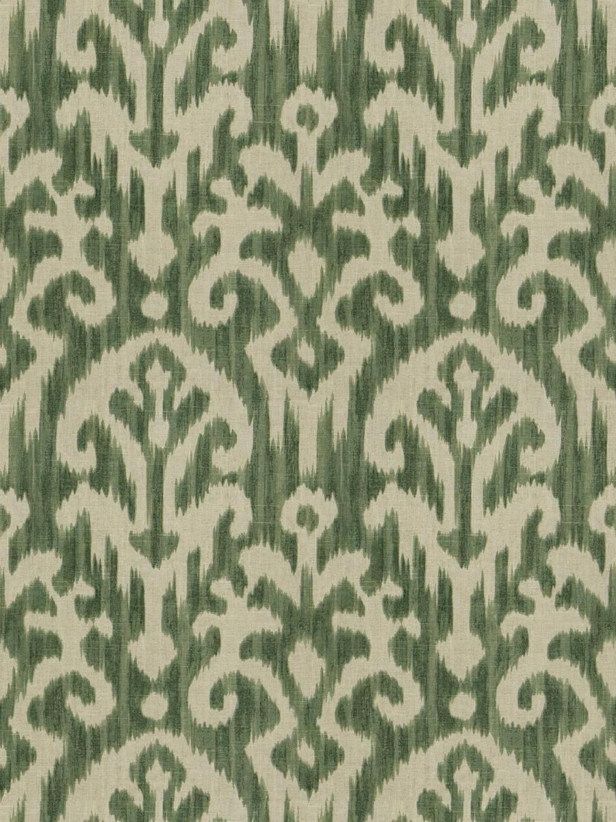 3 Colors Ikat Drapery Upholstery Fabric Blue Green Gray in