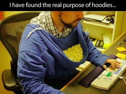 Real purpose of hoodies!