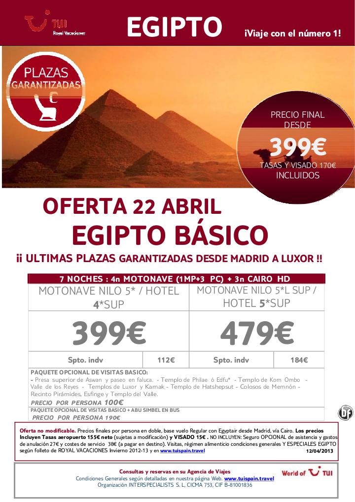 Oferta EGIPTO Básico única salida 22 de Abril. Precio final desde 399€ - http://zocotours.com/oferta-egipto-basico-unica-salida-22-de-abril-precio-final-desde-399e/