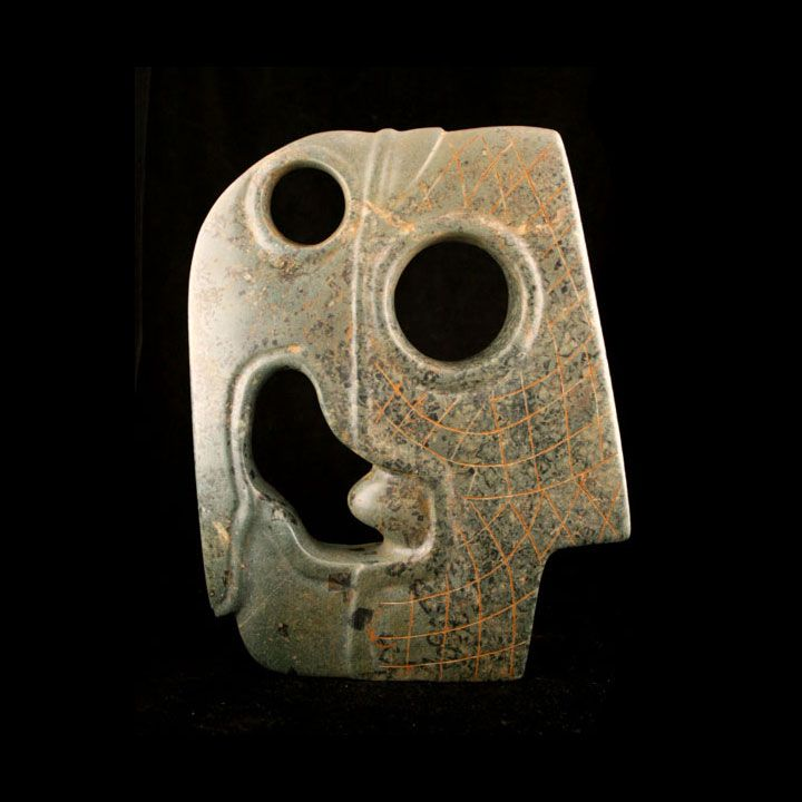 Mayan Jade Hacha of a Bird Head - Barakat Gallery Store