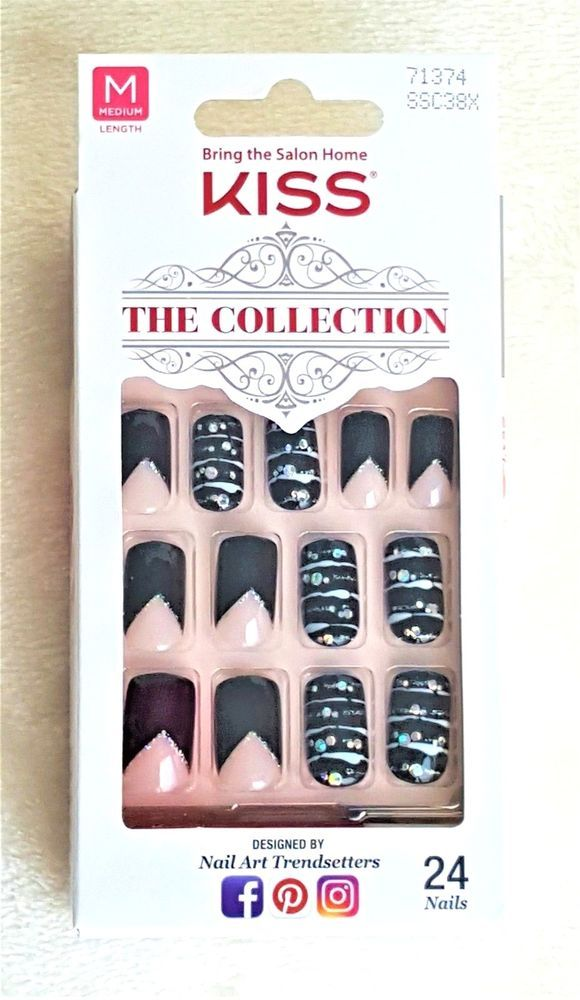 KISS The Collection 24 Glue-On Nails MEDIUM #71374 | Pinterest ...