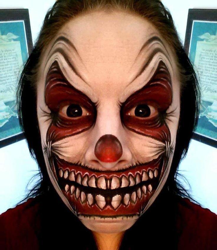 Pin By Andrea Karancz On Crazy Clown Scary Clown Makeup Face Painting Halloween Halloween Makeup