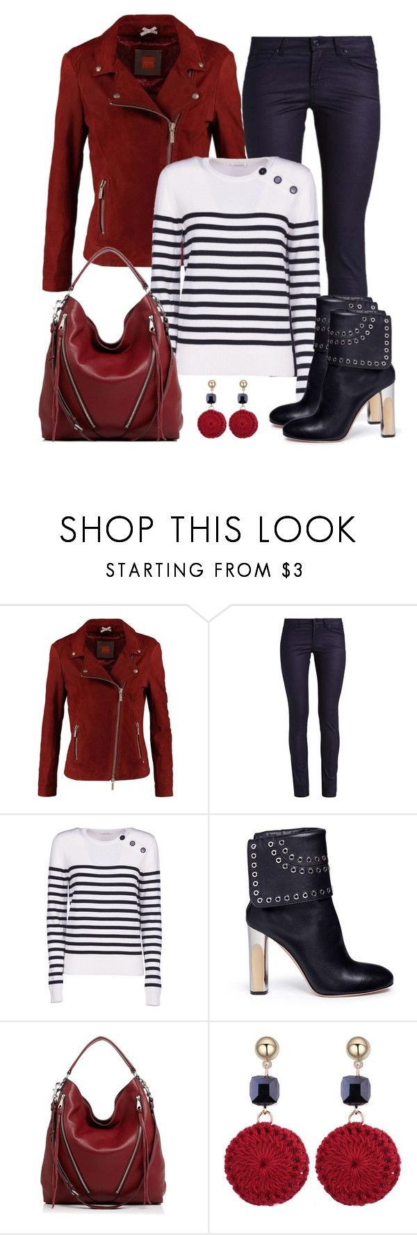 """""""Untitled #1552"""" by gallant81 ❤ liked on Polyvore featuring BOSS Orange, Yves Saint Laurent, Alexander McQueen and Rebecca Minkoff"""