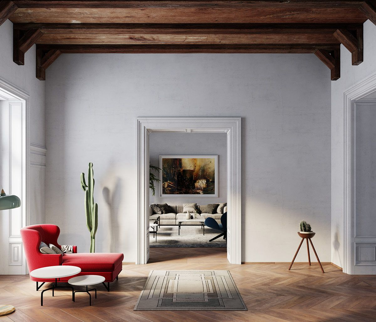 Cohesive Colour Themes, Archways And Exposed Wooden Beams ...