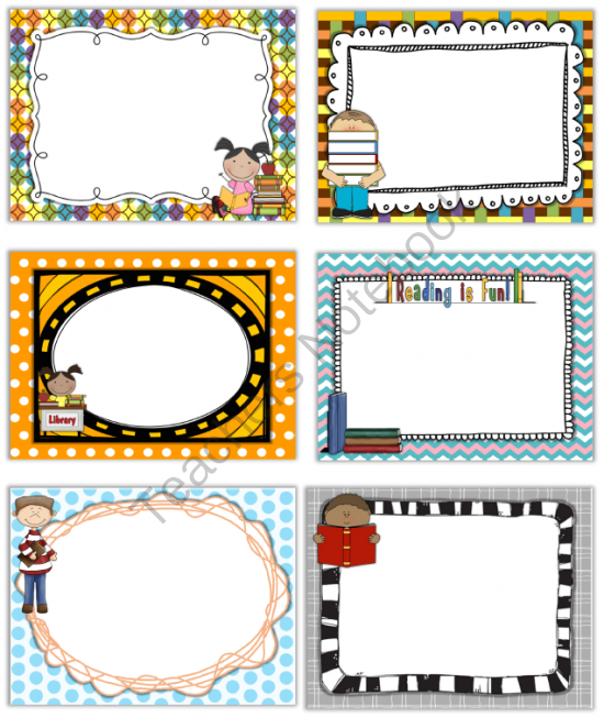 Smartboard And Powerpoint Background Templates Reading Theme