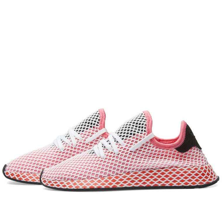 d6b4b0be3 Adidas Deerupt Runner W (Chalk Pink   Bold Orange)