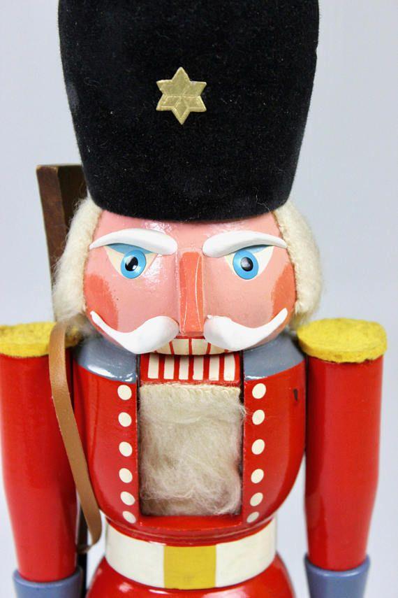 Weihnachtsdeko Seiffen.Vintage Nußknacker Wachsoldat Vero Seiffen Erzgebirge Nussknacker