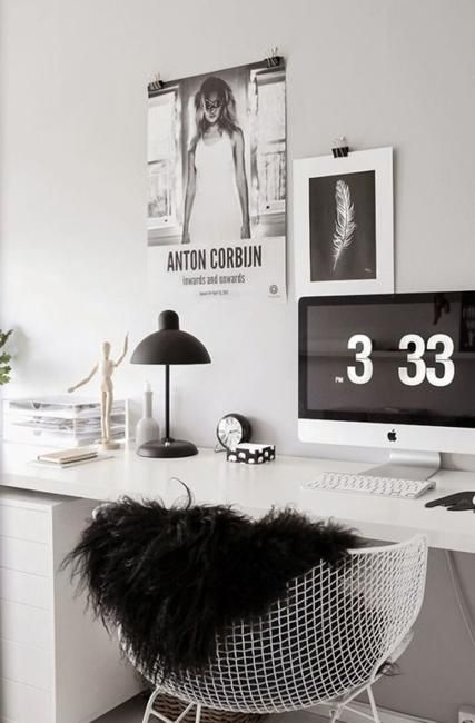 home officeminimalist white small home office. Black N White Decorating With Color For Home Office Designs In Minimalist Style Officeminimalist Small