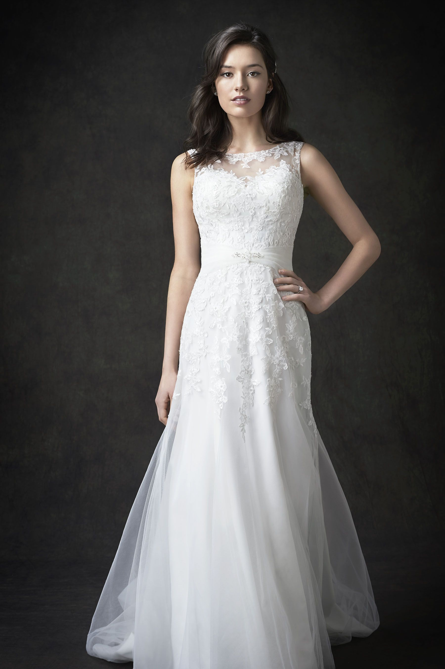 Gallery Style GA2289 | stunning lace bridal gown with sheer illusion ...