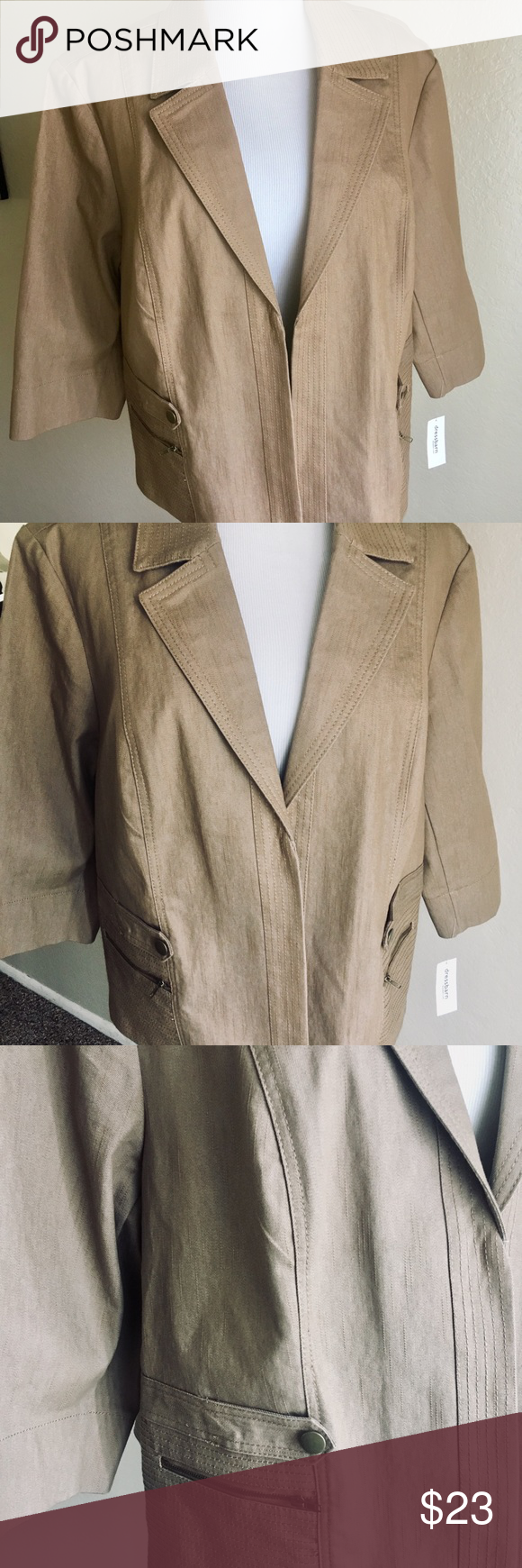 e33f4501c60c Woman's jacket Dress Barn 3X Beige Women's jacket from Dress Barn. beige,  cotton polyester