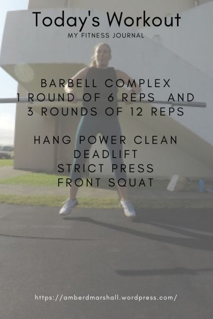 Today's Workout, Today's workout included back squats and then a fun little barbell complex with han...