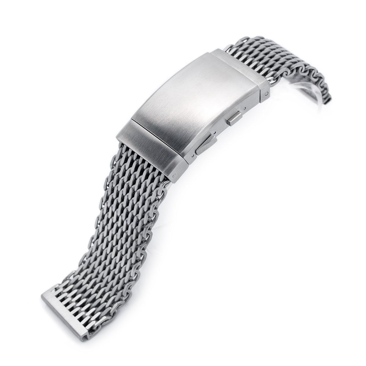 22mm winghead shark mesh band stainless steel watch