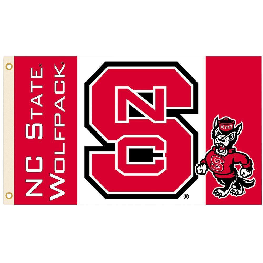 NCAA North Carolina State Wolfpack 12.5 x 18 Inch 2-Sided Garden Flag Logo