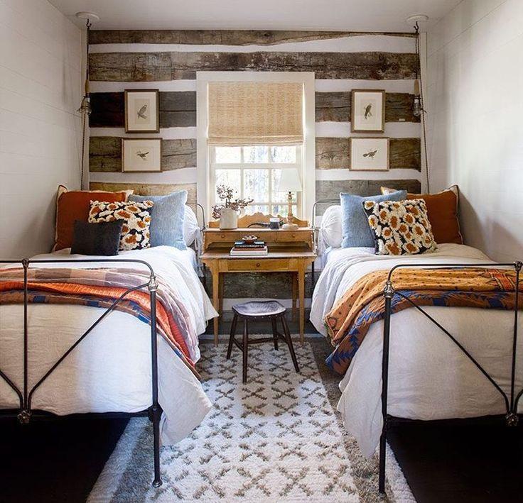 Super Cute Rustic Boys Bedroom Guest Bedrooms Cabin Decor Cabin Style