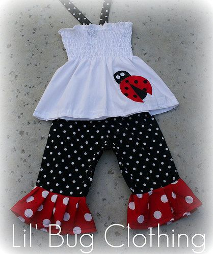 Baby Infant Toddler Summer Pants Lady Bug 18-24 months