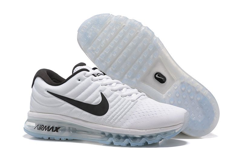 uk availability 88494 cdfe4 Nike Air Max 2017 Women White Black Tick Mesh