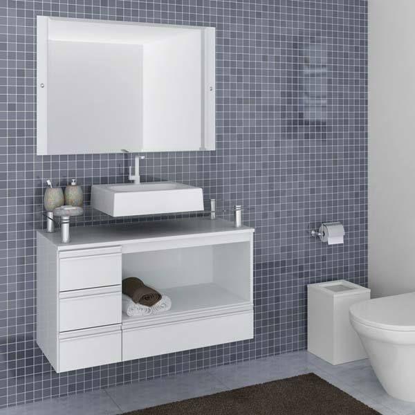 ARMÁRIOS PARA BANHEIROS → 75 Modelos, Cores e Preços  AQUI!  Armário simple -> Banheiros Muito Simples