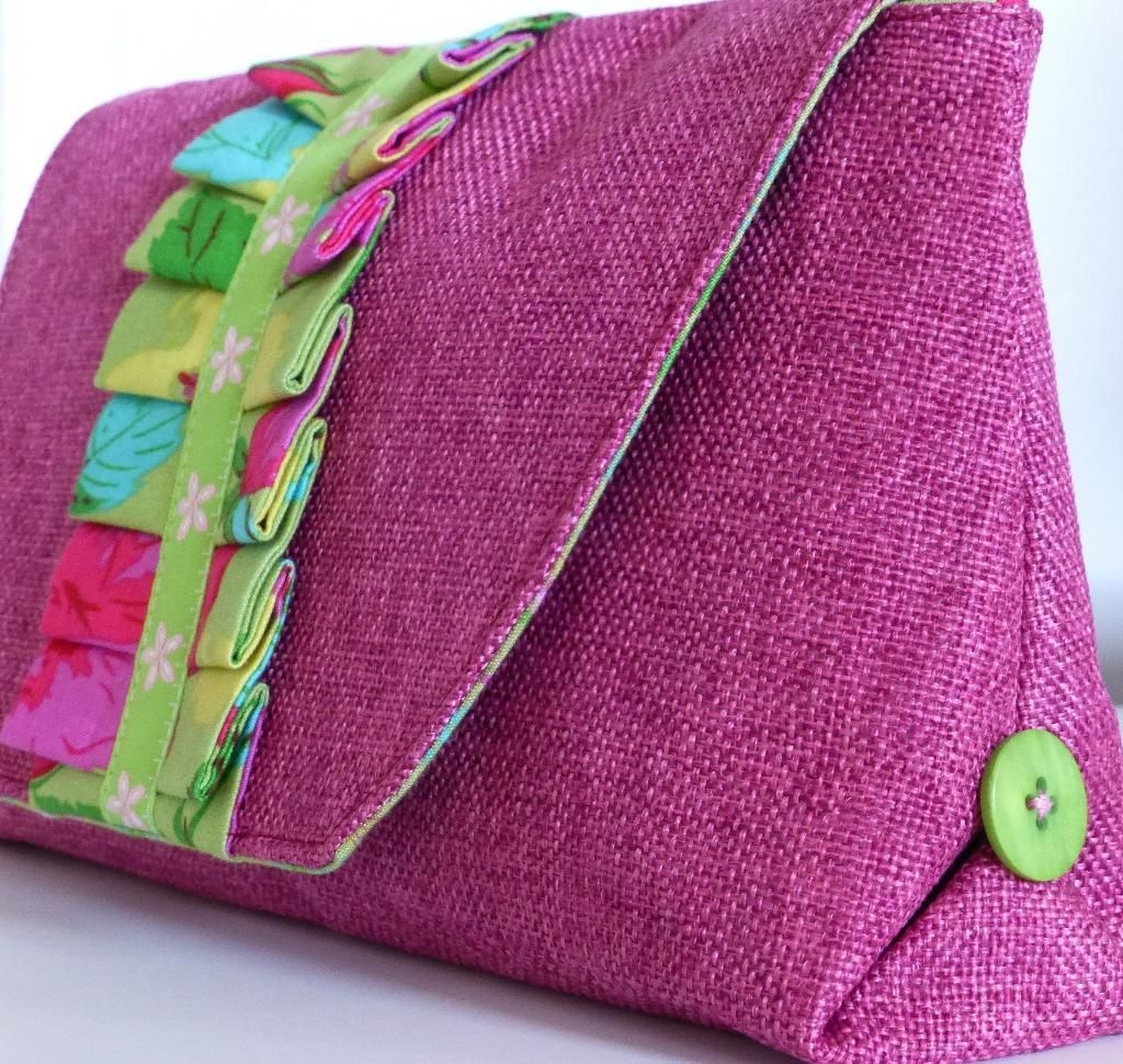 Pretty As You Please Clutch - PDF Pattern | Taschen nähen, Beutel ...