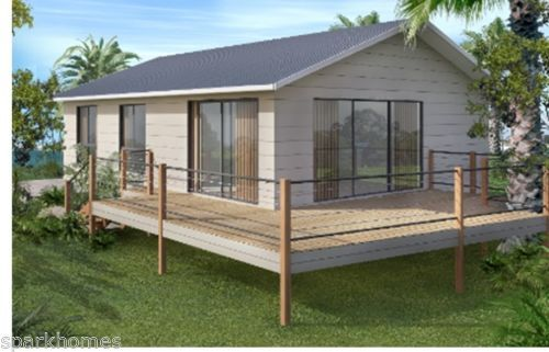 Granny flat kit home plan 85 2 bedrooms size 80m2 flat for Modern house 80m2