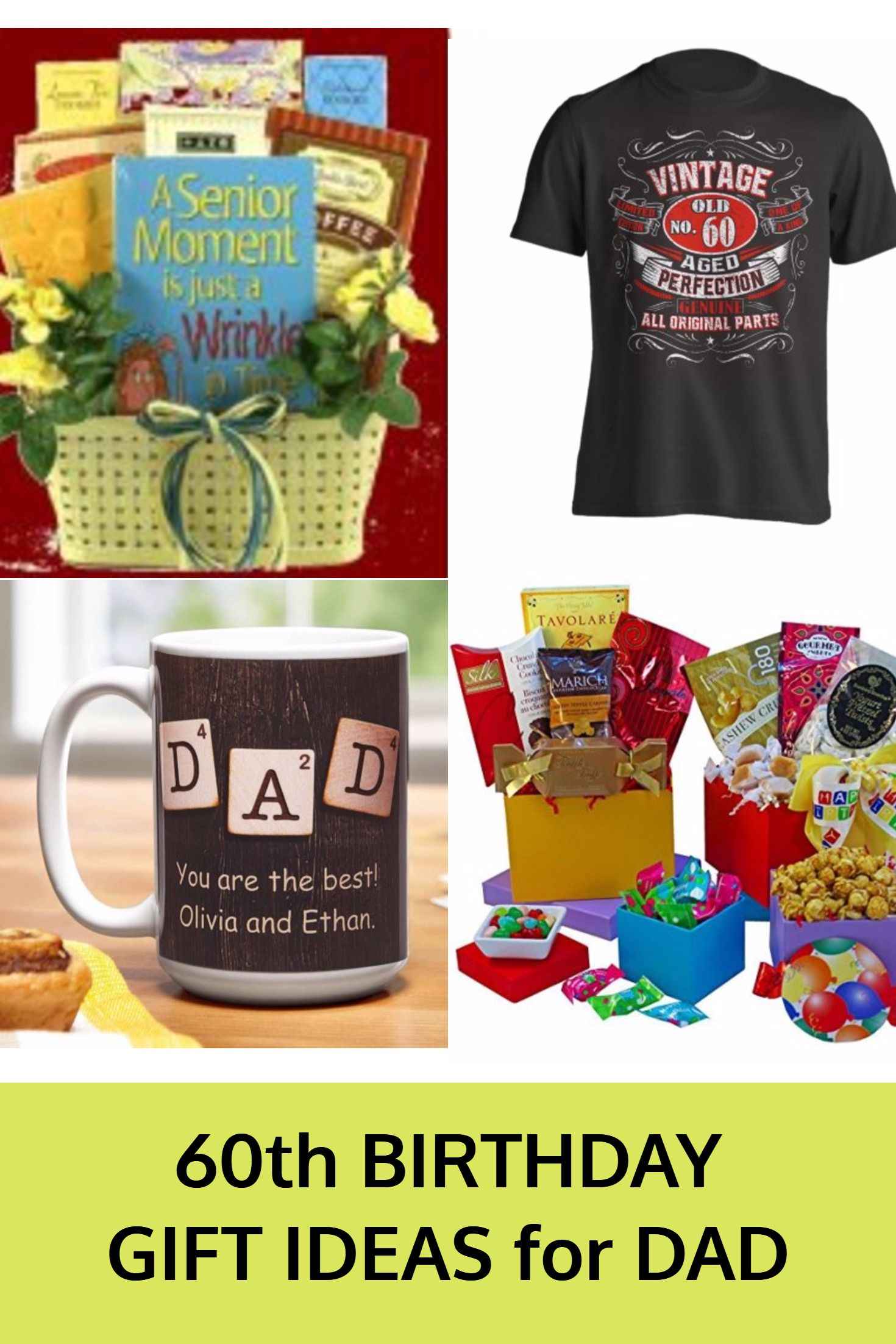 60th Birthday Gifts for Dad. Great gift ideas to help celebrate Dad's 60th. Gift Ideas for a Dad that loves Golf, fishing or other hobbies.