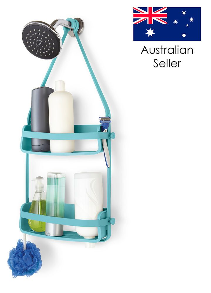 UMBRA FLEX HANGING BATH BATHROOM SHOWER CADDY ORGANISER SURF BLUE ...