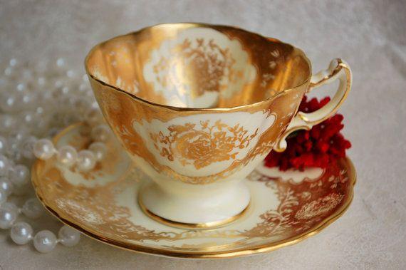 HAMMERSLEY/Gold Rose Filigree/ Vintage Bone by HoneyandBumble, $38.00