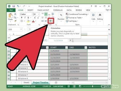Create a Timeline in Excel Timeline, Create and Microsoft excel