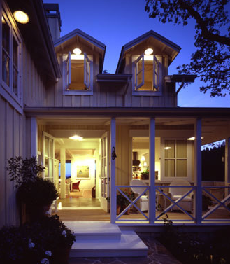 The polished pebble modern farmhouse architecture criss cross porch railings