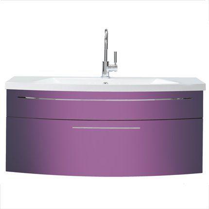meuble salle de bain couleur parme