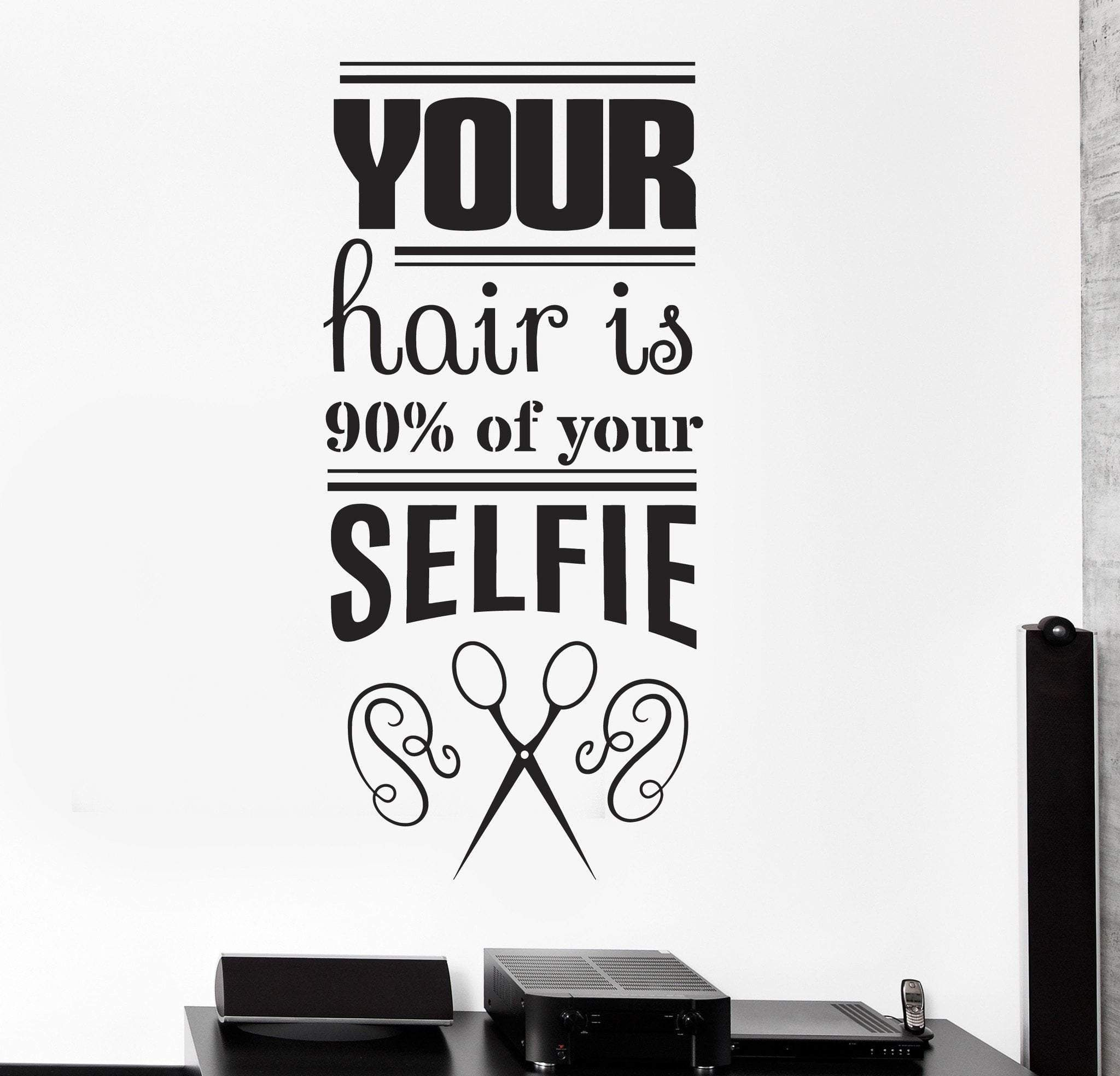 Vinyl Wall Decal Funny Hair Salon Quote Barbershop Stylist Stickers Unique Gift Ig4400 Hair Salon Quotes Salon Quotes Hair Salon Decor