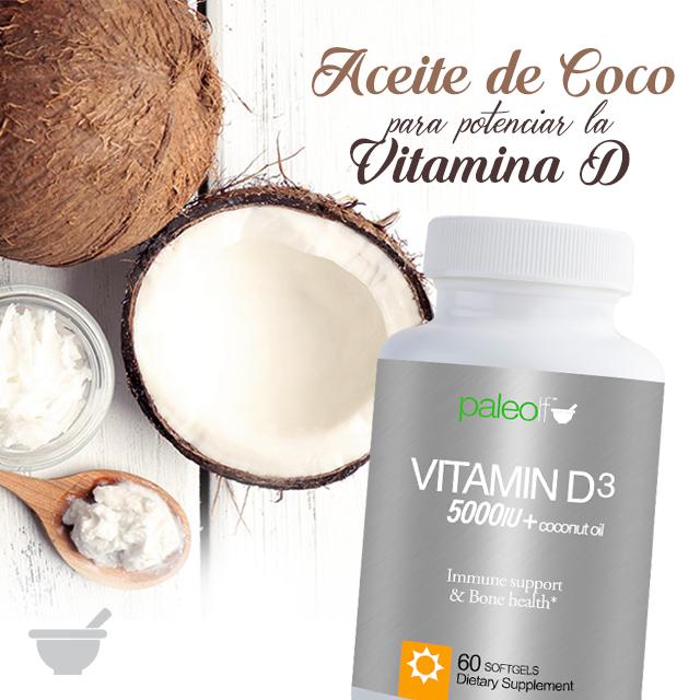 Vitamin d3 5000 iu Aceite de coco, Vitamina e y Paleo