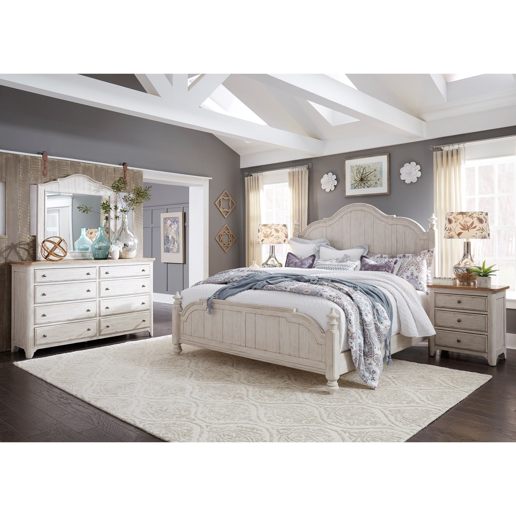 Farmhouse Reimagined King Bedroom Group By Liberty Furniture At Wayside Furniture Liberty Furniture Master Bedroom Furniture King Bedroom