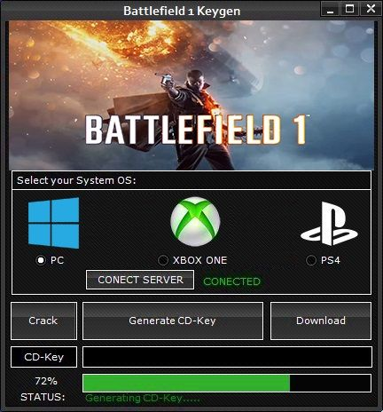 Battlefield 1 Keygen Serial Key Generator (PC,XBOX ONE, PS4