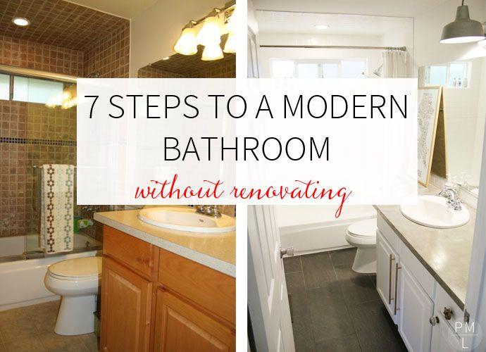 7 Steps to a Modern Bathroom | Aus alt mach neu, Alter und Neuer