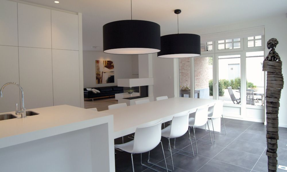 Gf concepts uw interieurspecialist de keuken loopt naadloos over en wordt een kook eet - Moderne chalet keuken ...
