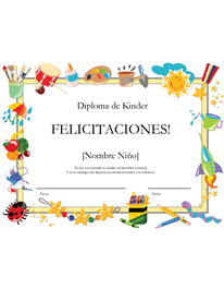 Certificado para nios de kinderd inverted exclamation mark kindergarten diploma certificate free certificate templates in academic award certificates category yelopaper Gallery