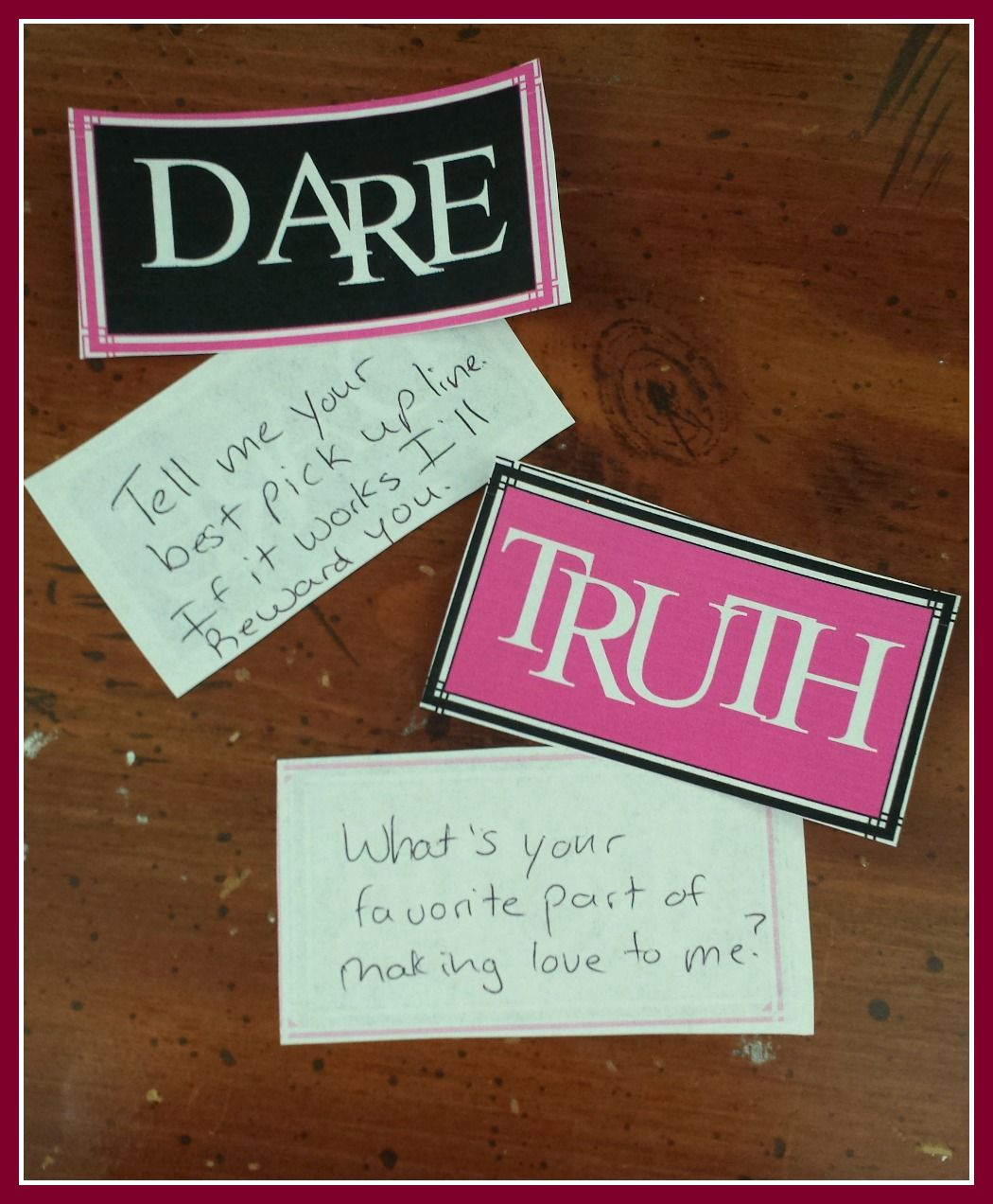 Sexy truth or dare game