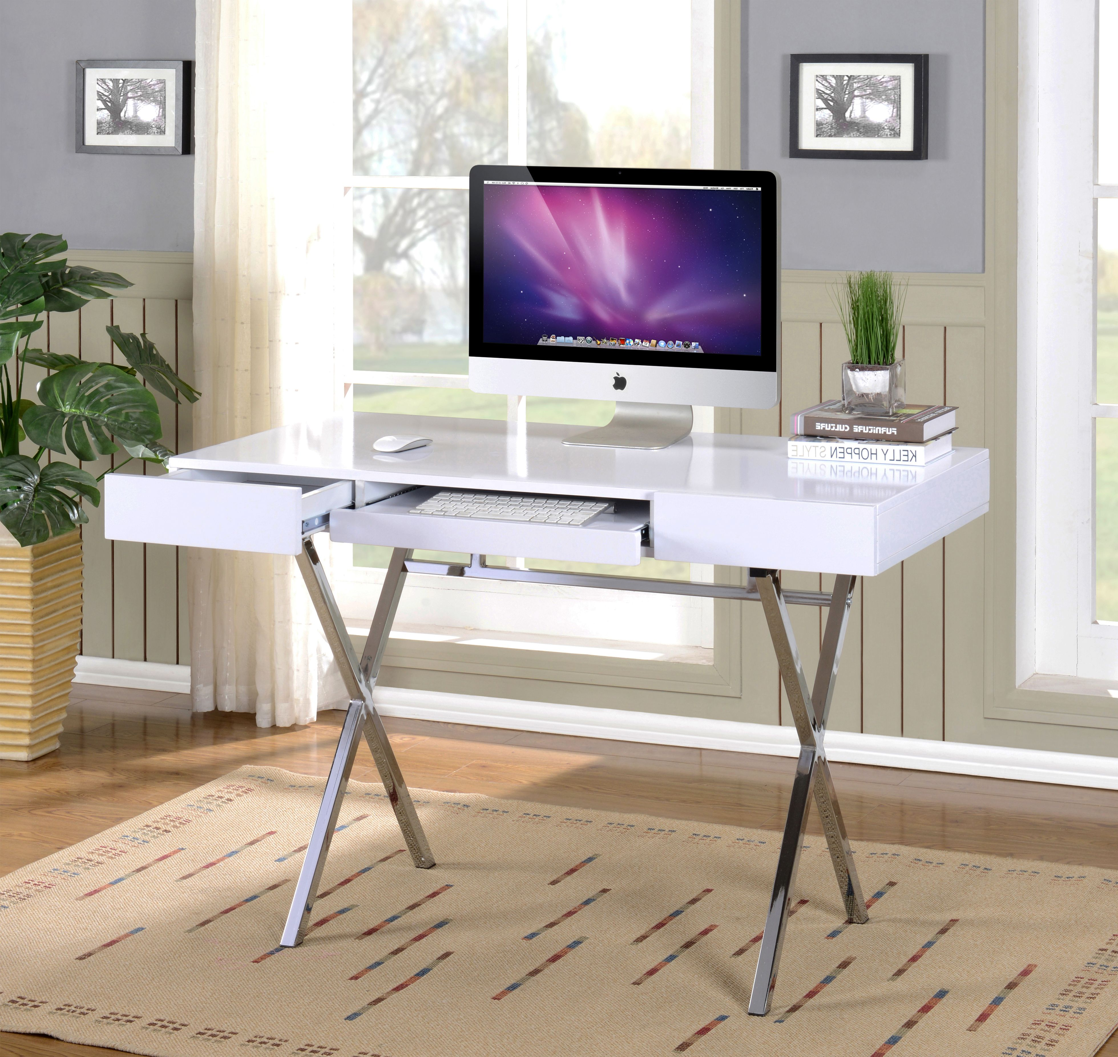 Home White Desk Office Home Office Furniture Small Home Office