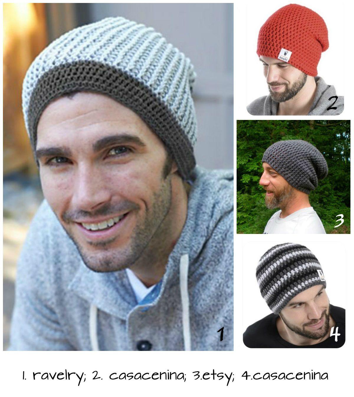 Toucas Masculinas | Men\'s - Tricô, Crochê ..... | Pinterest