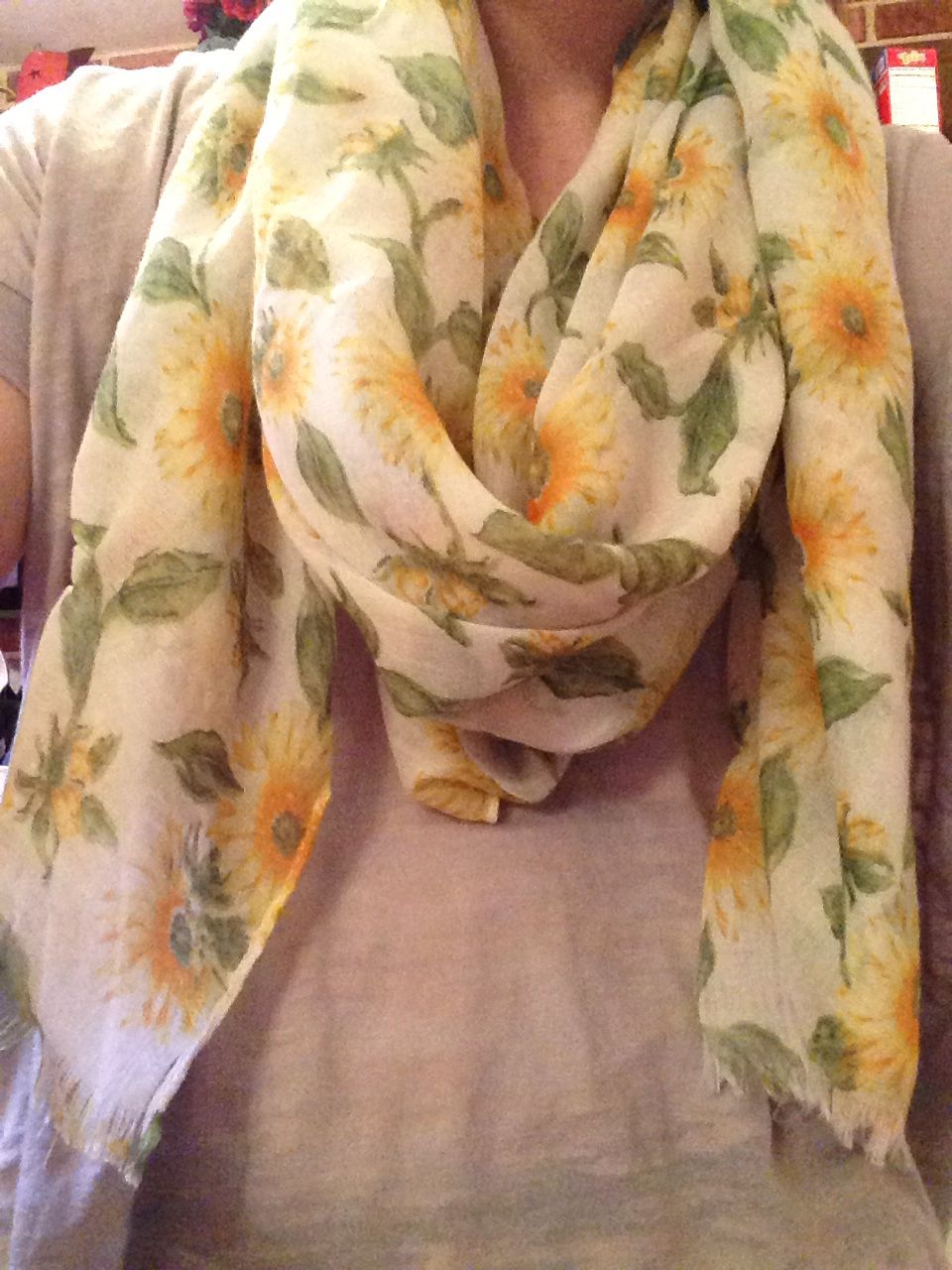 Sunflower scarf!❤️ I'm ready for spring!