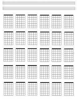 blank guitar chord chart: Blank guitar chord sheets guitar pinterest guitar chord