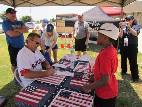 Texas Rangers great Pete O'Brien signed autographs for the kids at the AAYBA World Series in Flower Mount
