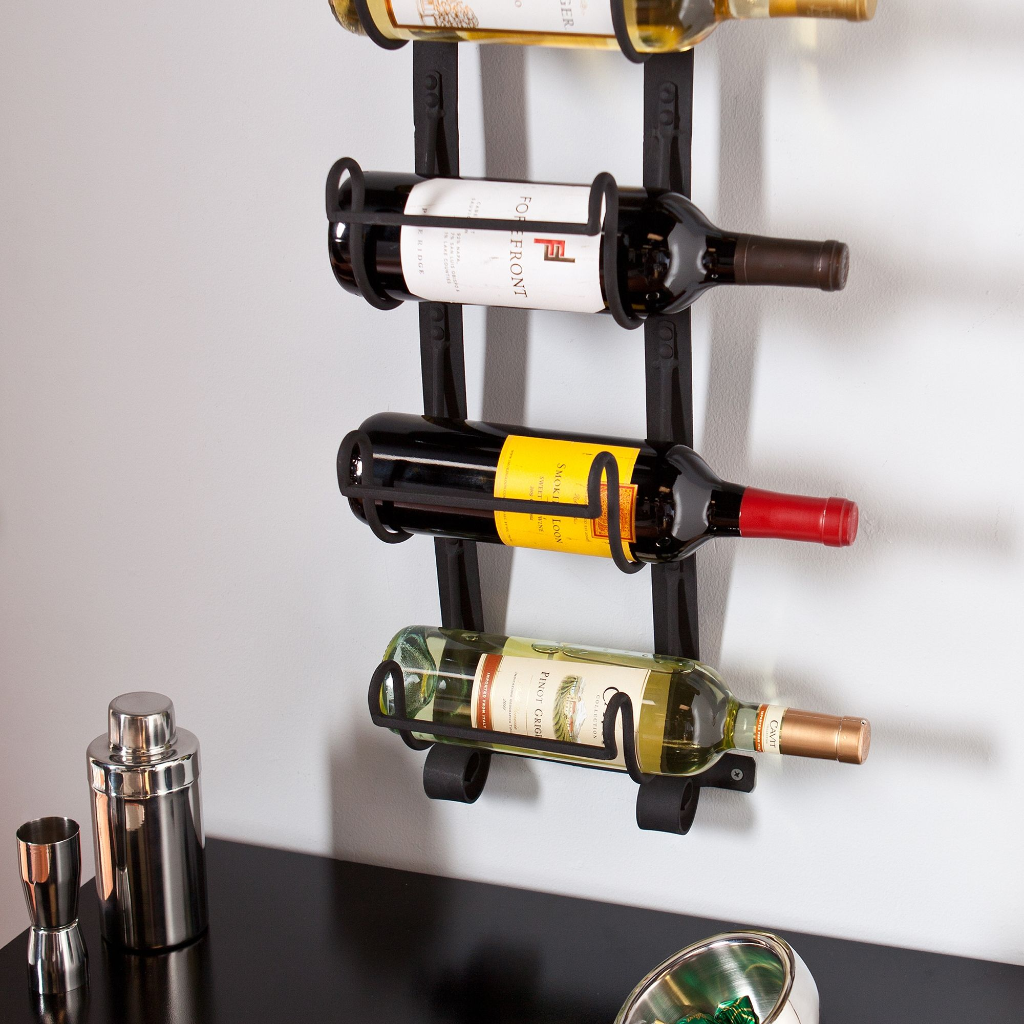 Metal Wall Mount Wine Bottle Rack Diy Pinterest Botellas