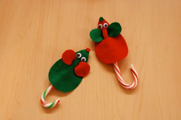 Image result for felt candy cane mouse