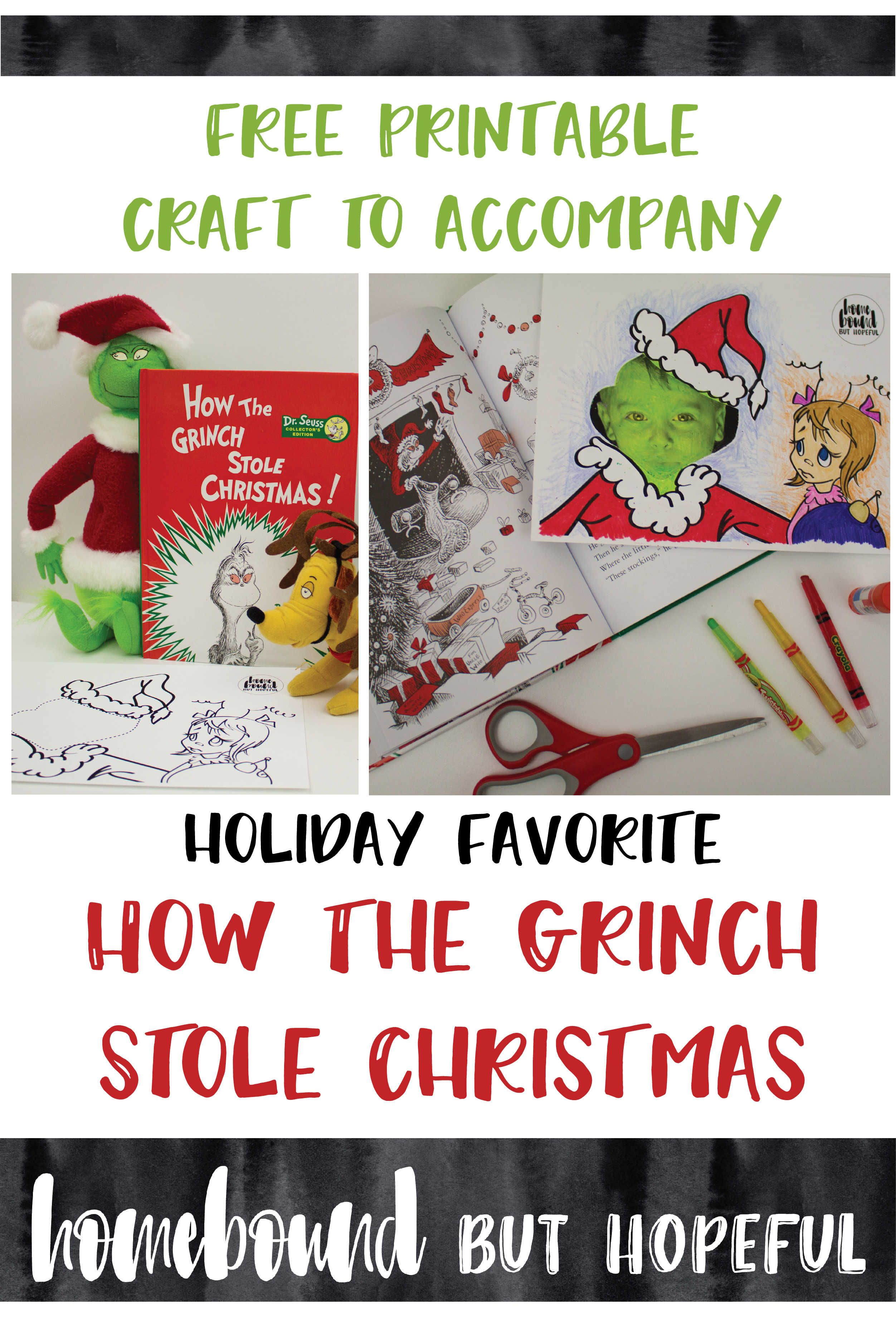 Quick Printable Craft To Accompany How The Grinch Stole