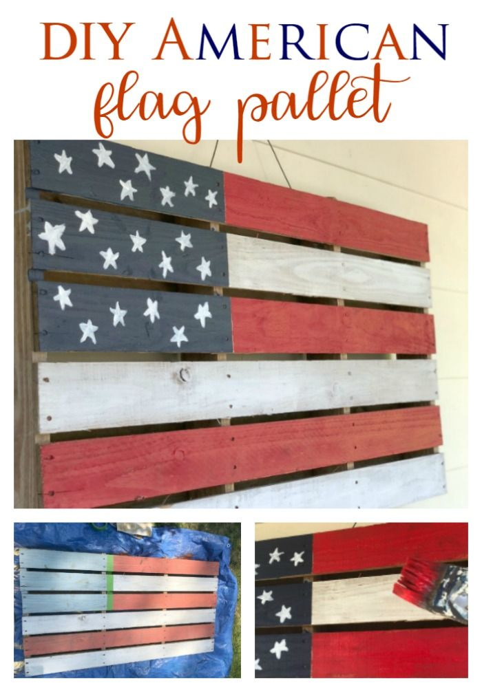 DIY American Flag Pallet - Southern State of Mind Blog by ...