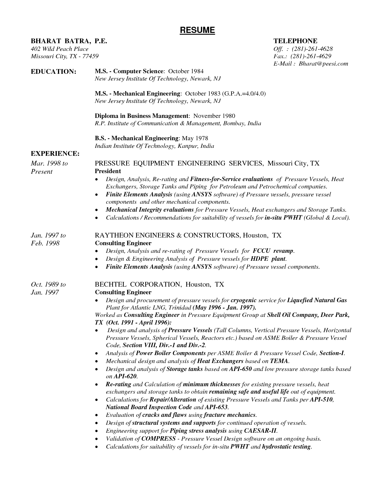 Sample Resume Pdf Mechanical Designer Resume Mechanical Engineer Technician  Jobs