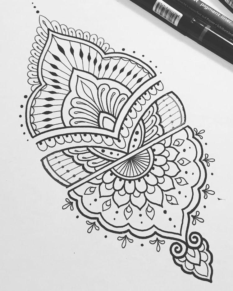 Pin de Martyna en tattoo | Pinterest | Mandalas, Dibujo y Dibujos ...