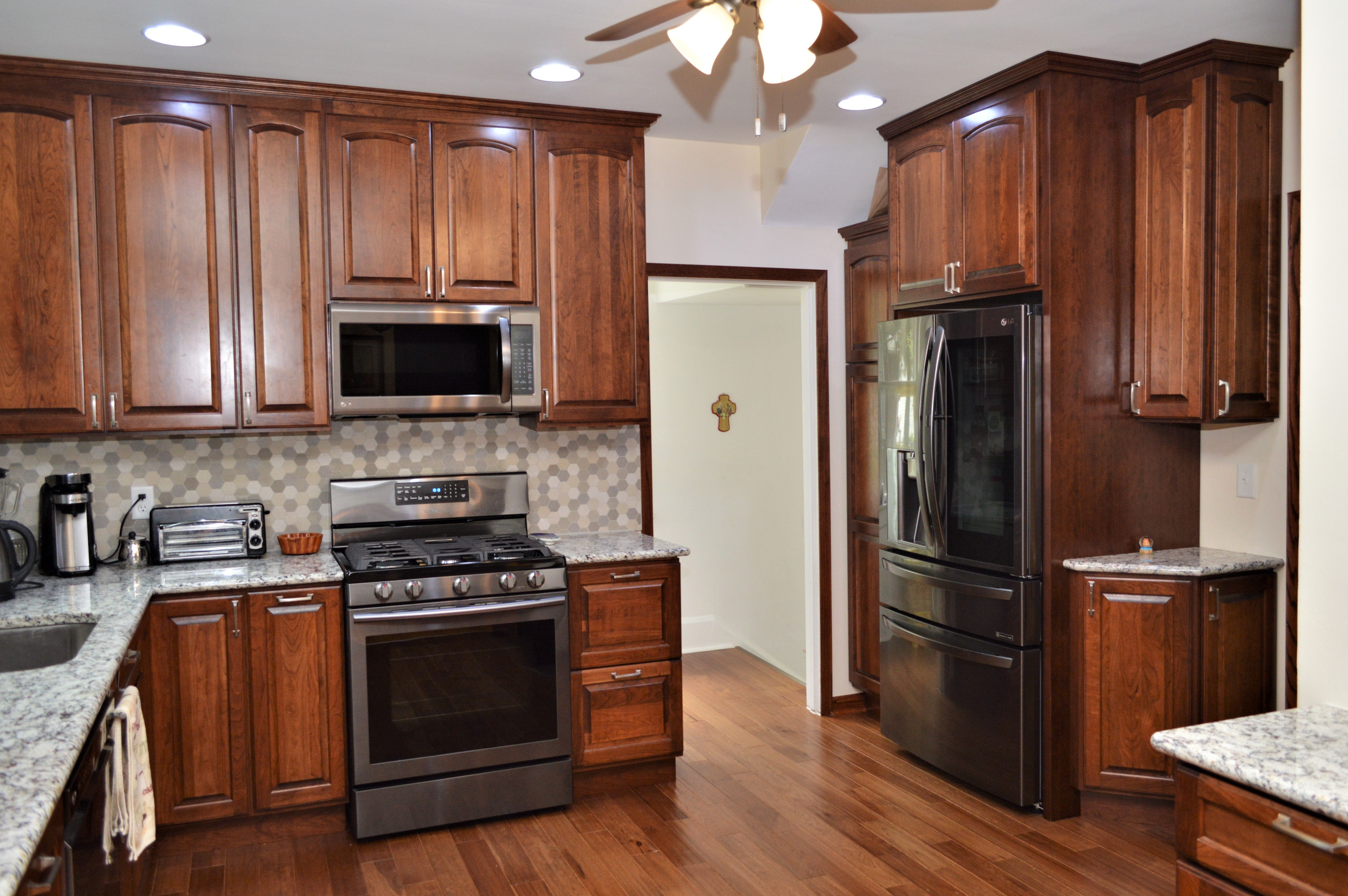 Pin On Cherry Cabinetry Bailey S Cabinet Customer Kitchens