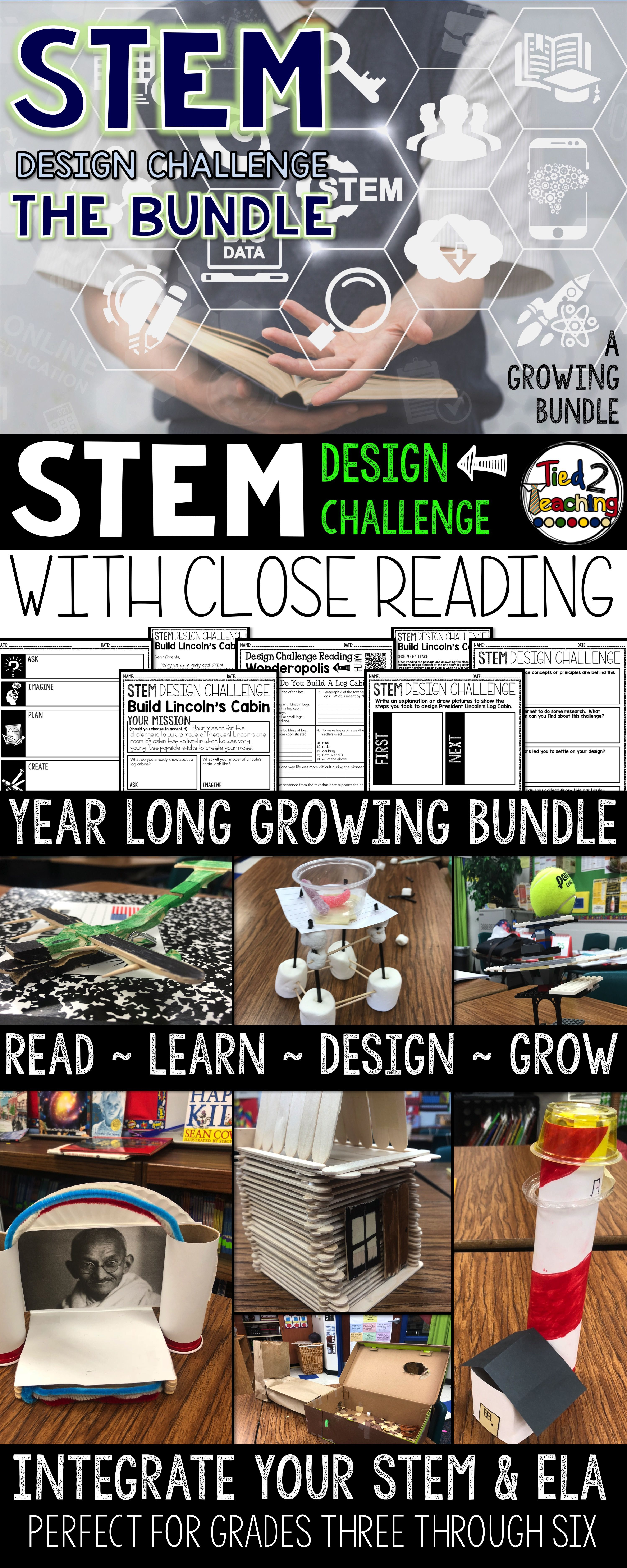 STEM with CLOSE READING series! Each challenge seamlessly allows you to tie together the curriculum by giving you rigorous text dependent questions that go with a high interest reading passage in addition to the fun STEM! Take your students to new heights and let the STEM adventure begin in your classroom this year! Integrating ELA into your STEM challenges has never been easier. Use the close reading passages and questions to get the kids pumped up for each challenge you present them with!